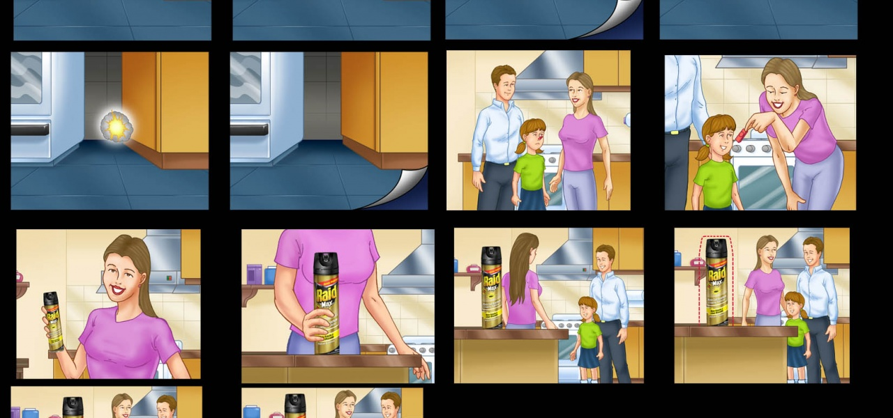 Client: Raid / Storyboard for TV Ad / Agency: FCB Buenos Aires