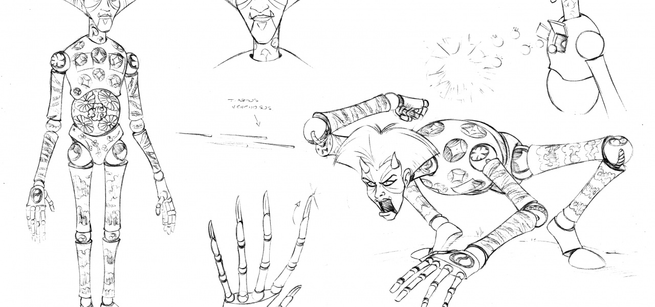 Concept Sheet for Animated Movie Character