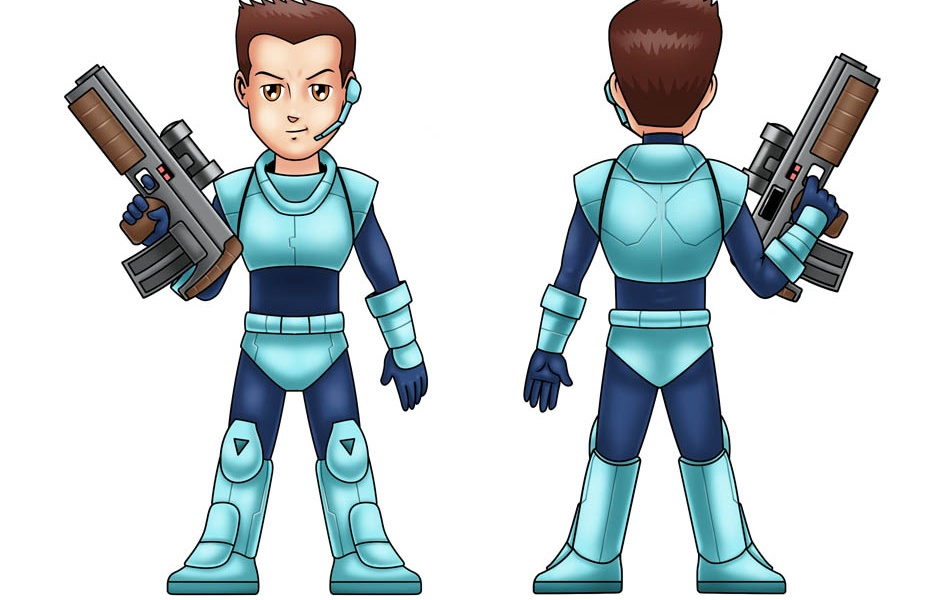 Model Sheet for Video Game Character