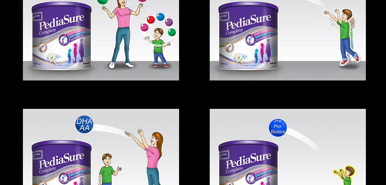 Client: Ensure / Storyboard for TV Ad / Agency: JWT Buenos Aires