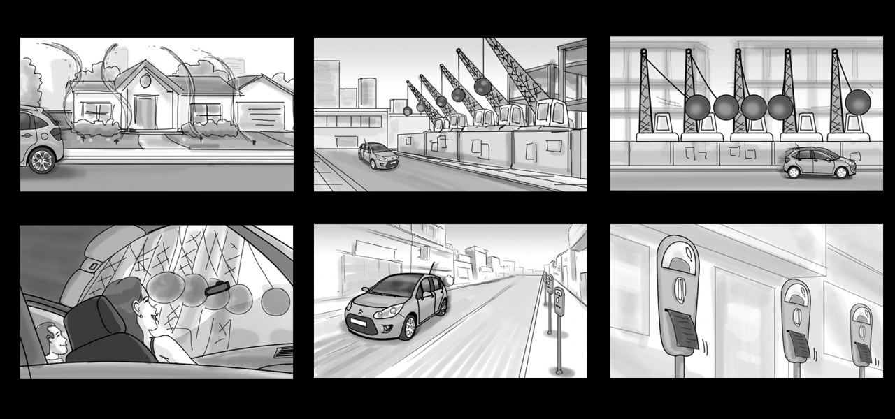 Client: Citroën / Storyboard for TV Ad / Agency: Euro Buenos Aires